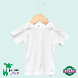 S/S Baby Lap T- White- 65% Poly