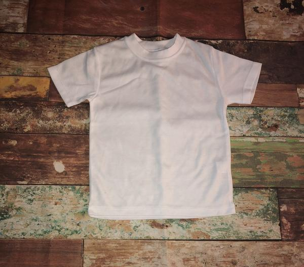 White Infant S/S T Shirt- 65% Poly