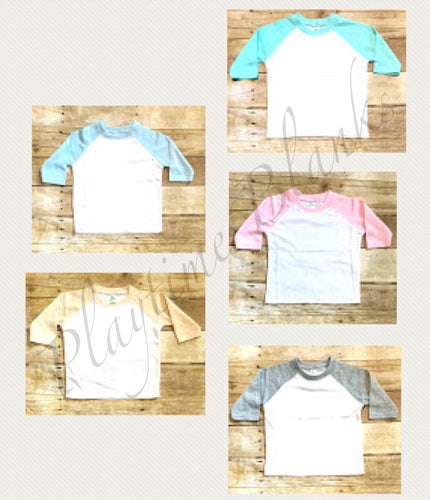 Youth Pastel Raglan Shirts - 65% Poly