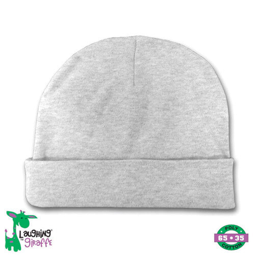 Heather Gray Infant Beanie- 65% Poly