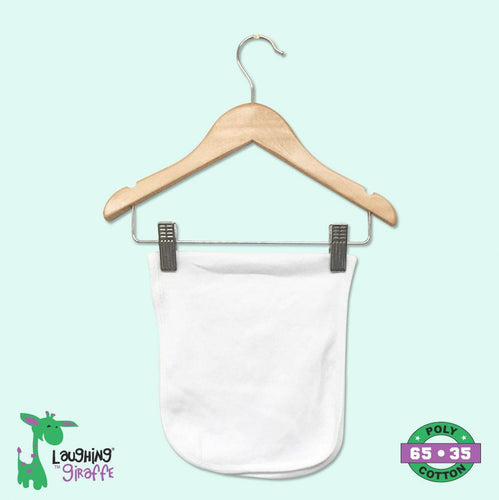 White Infant Burp Cloth- 65% Poly