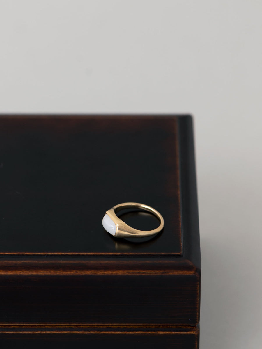 White Jade rectangle ring