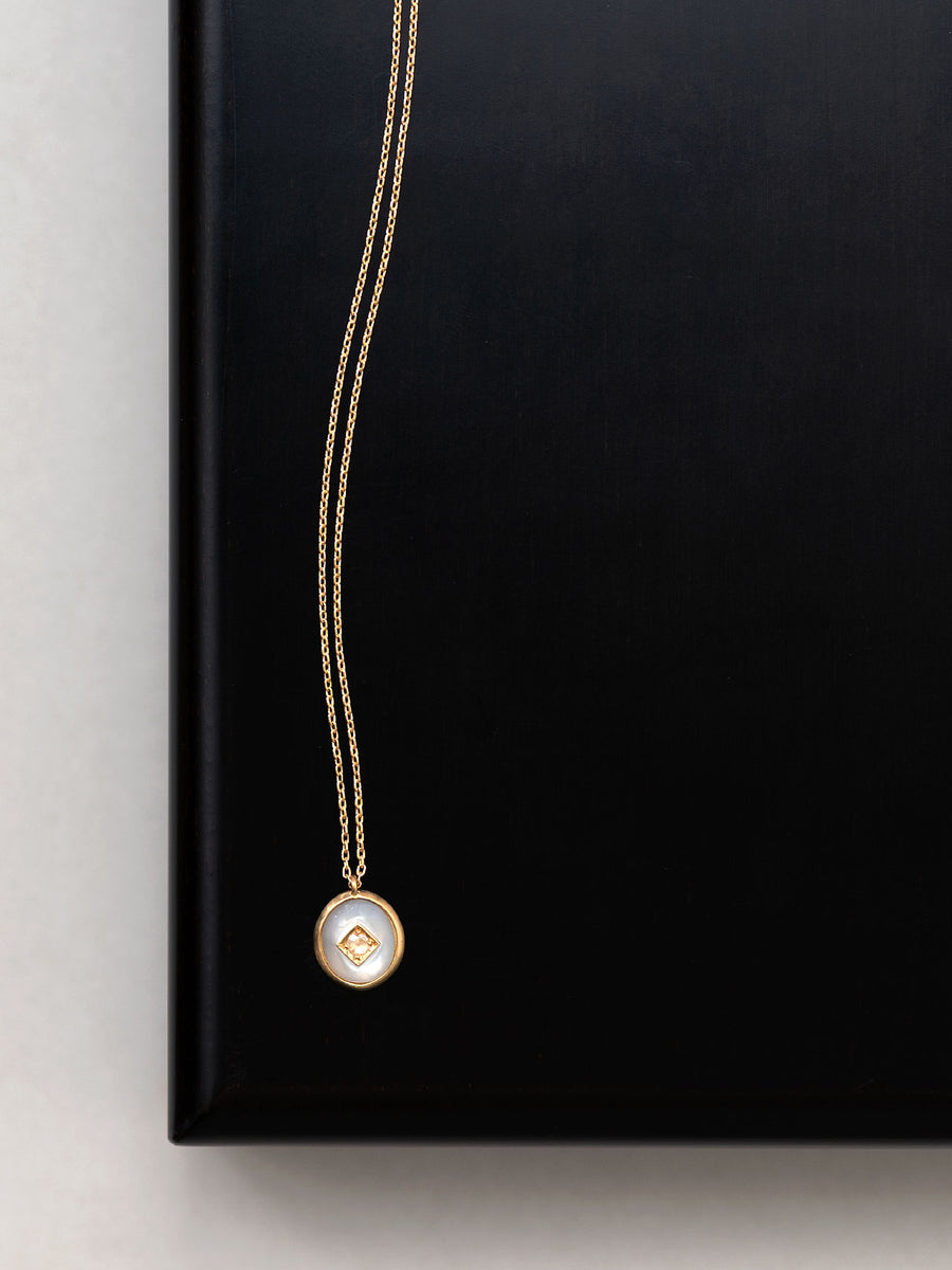 Mother of pearl dome necklace