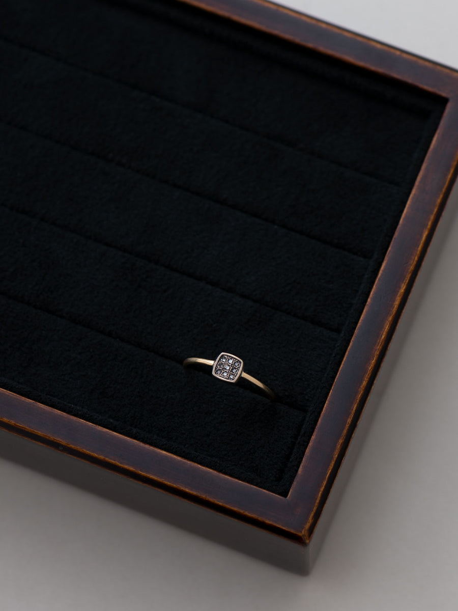 Pave square ring Ⅱ