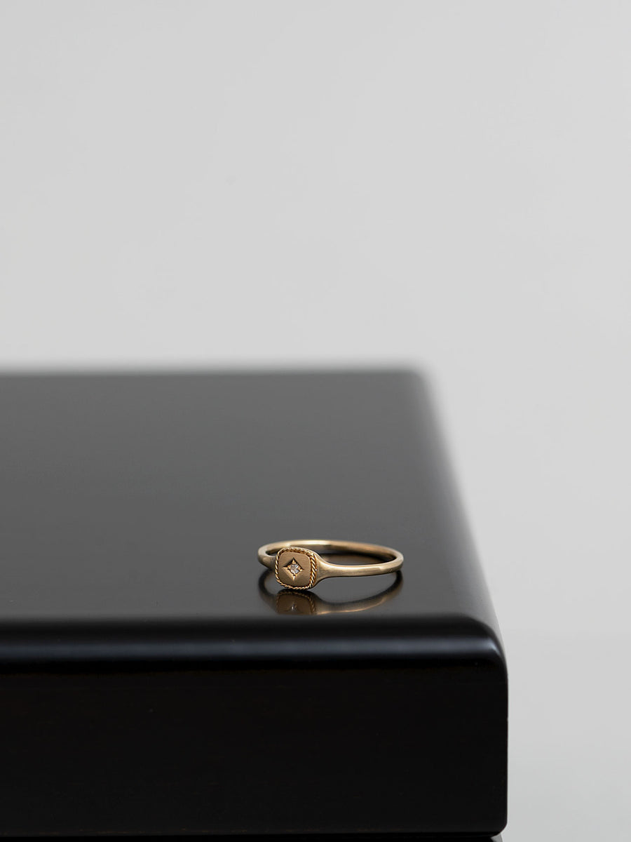 Signet square ring -inlay- S