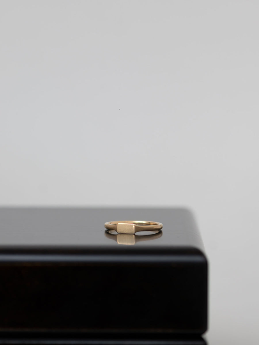 Nude rectangle ring