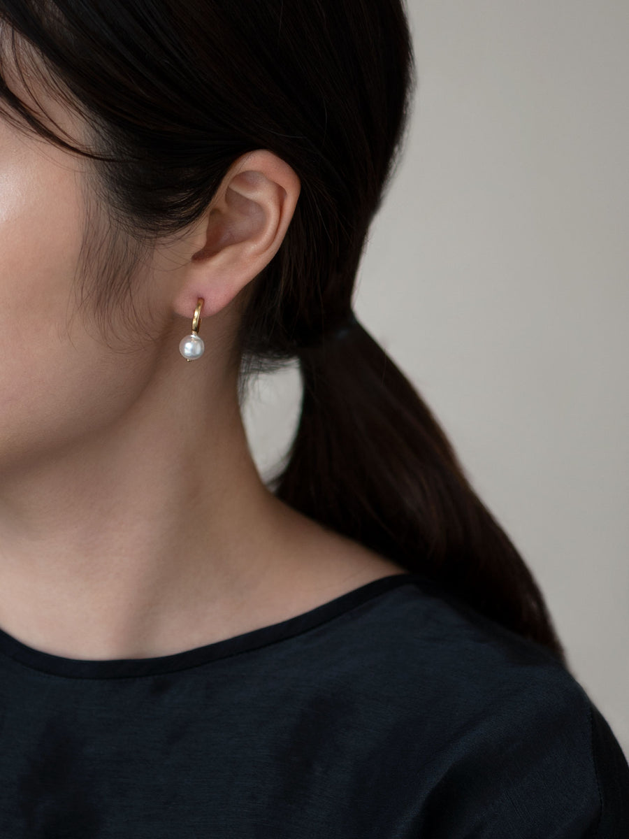 Pearl hoop stud pierce Ⅱ