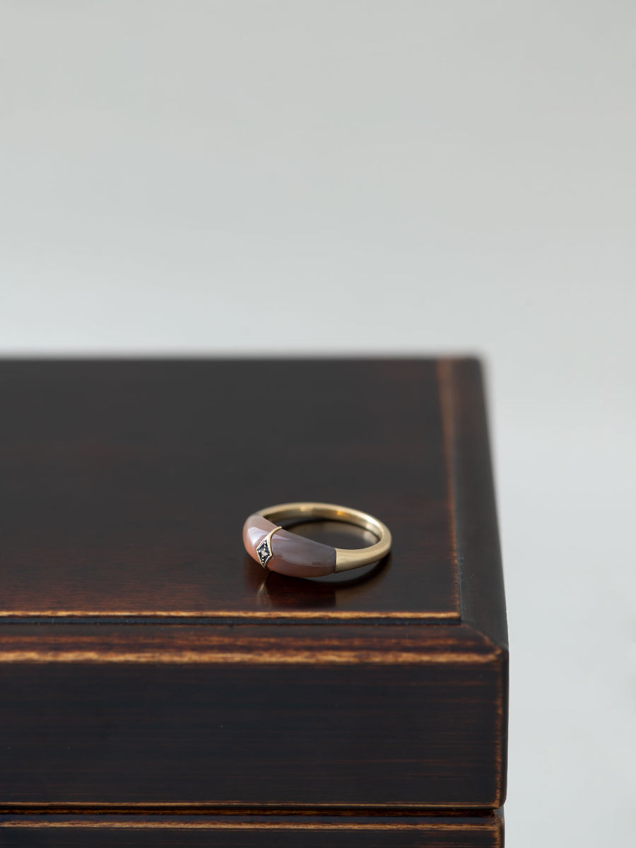Agate dome ring
