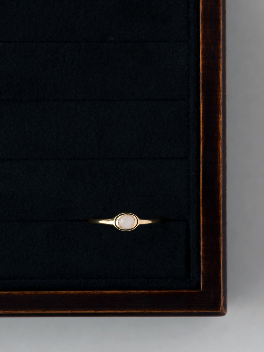 White Jade petit ring