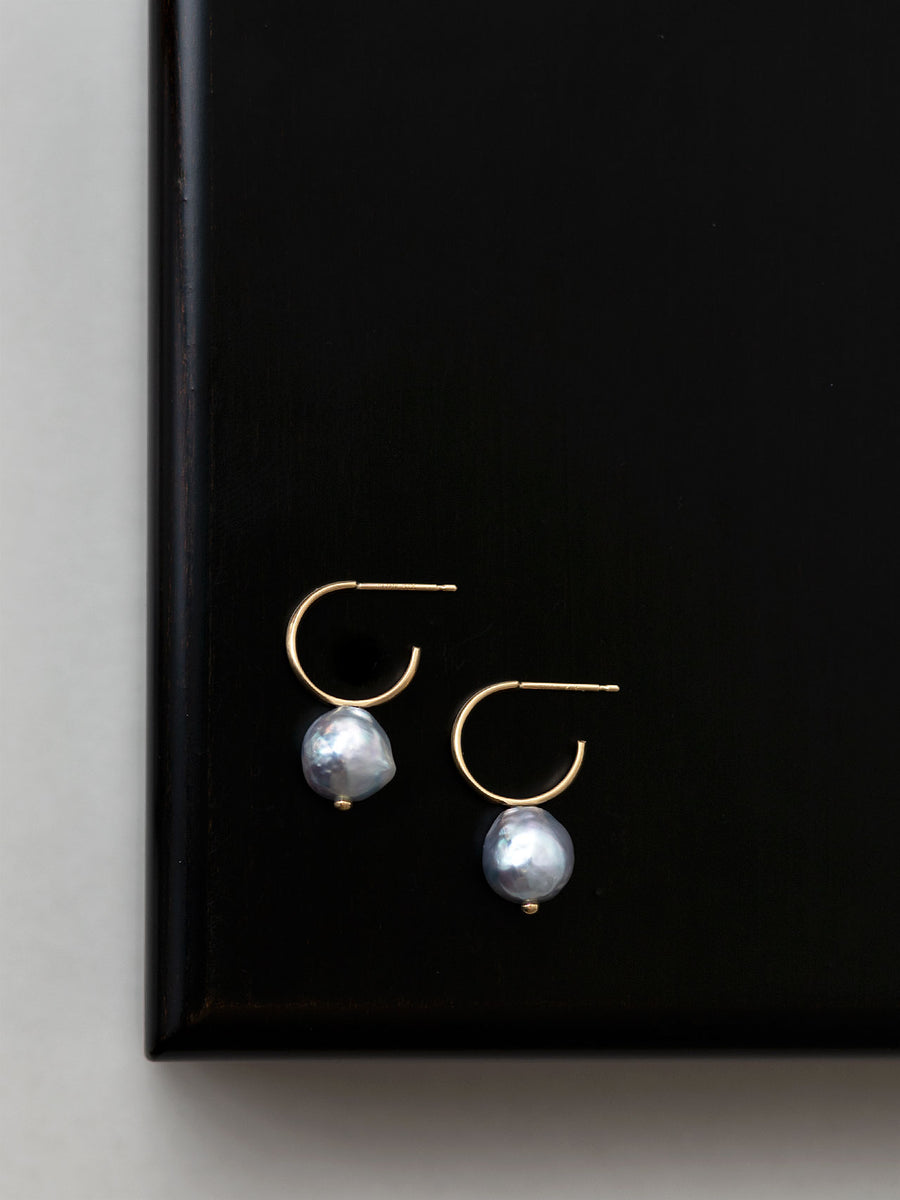 Pearl hoop stud pierce Ⅰ