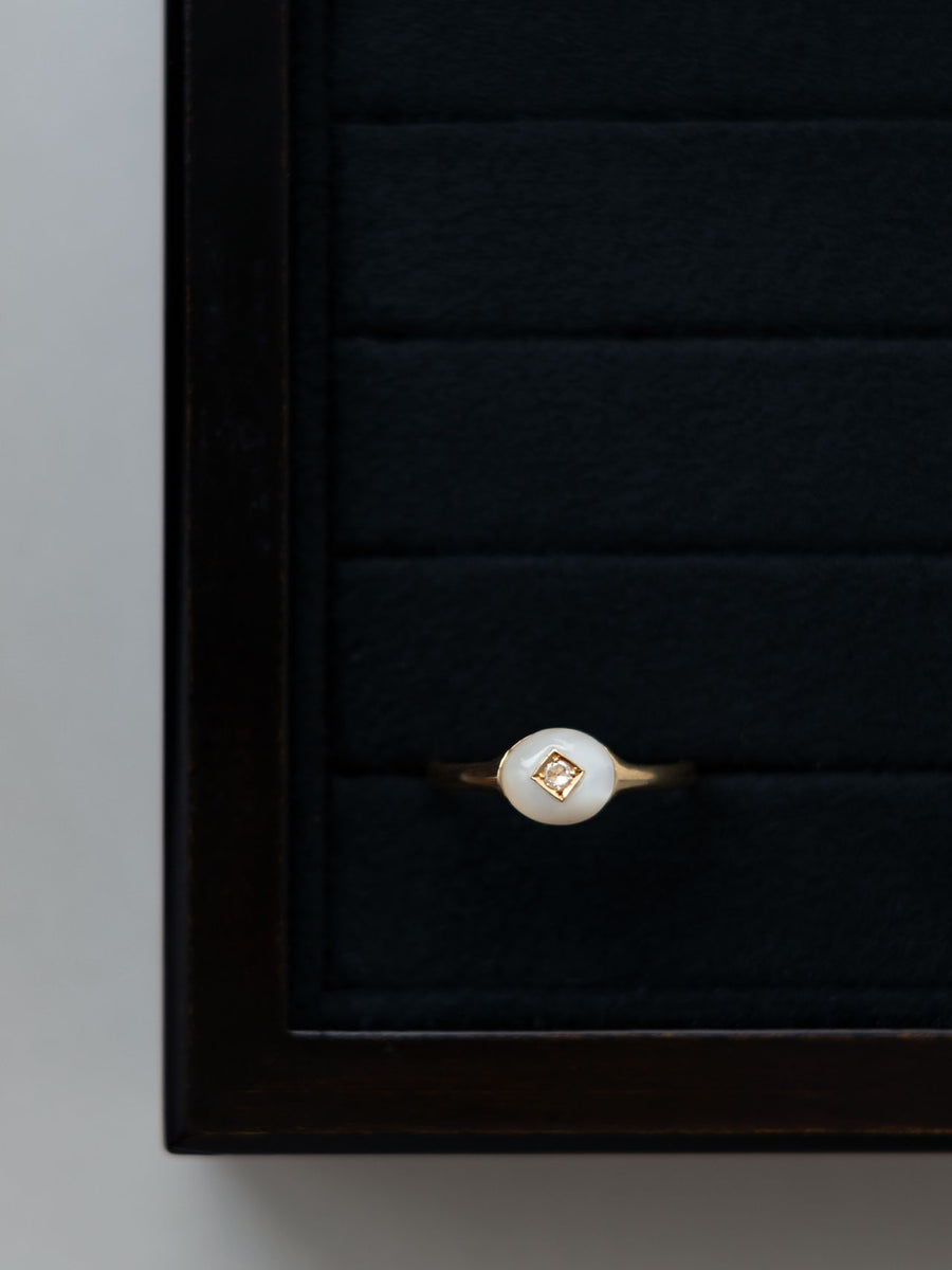 Mother of pearl dome ring