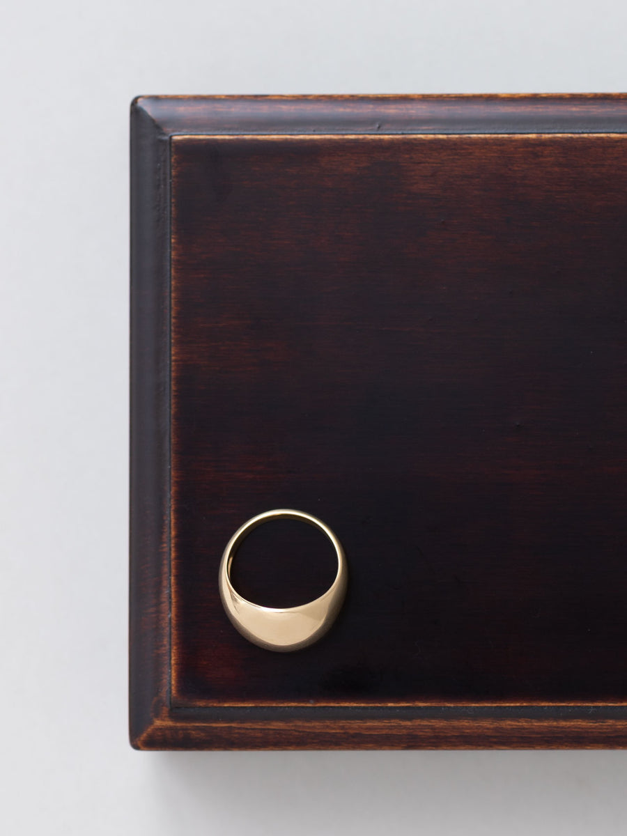 Plain dome ring