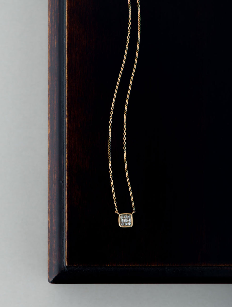 Pave square necklace Ⅱ
