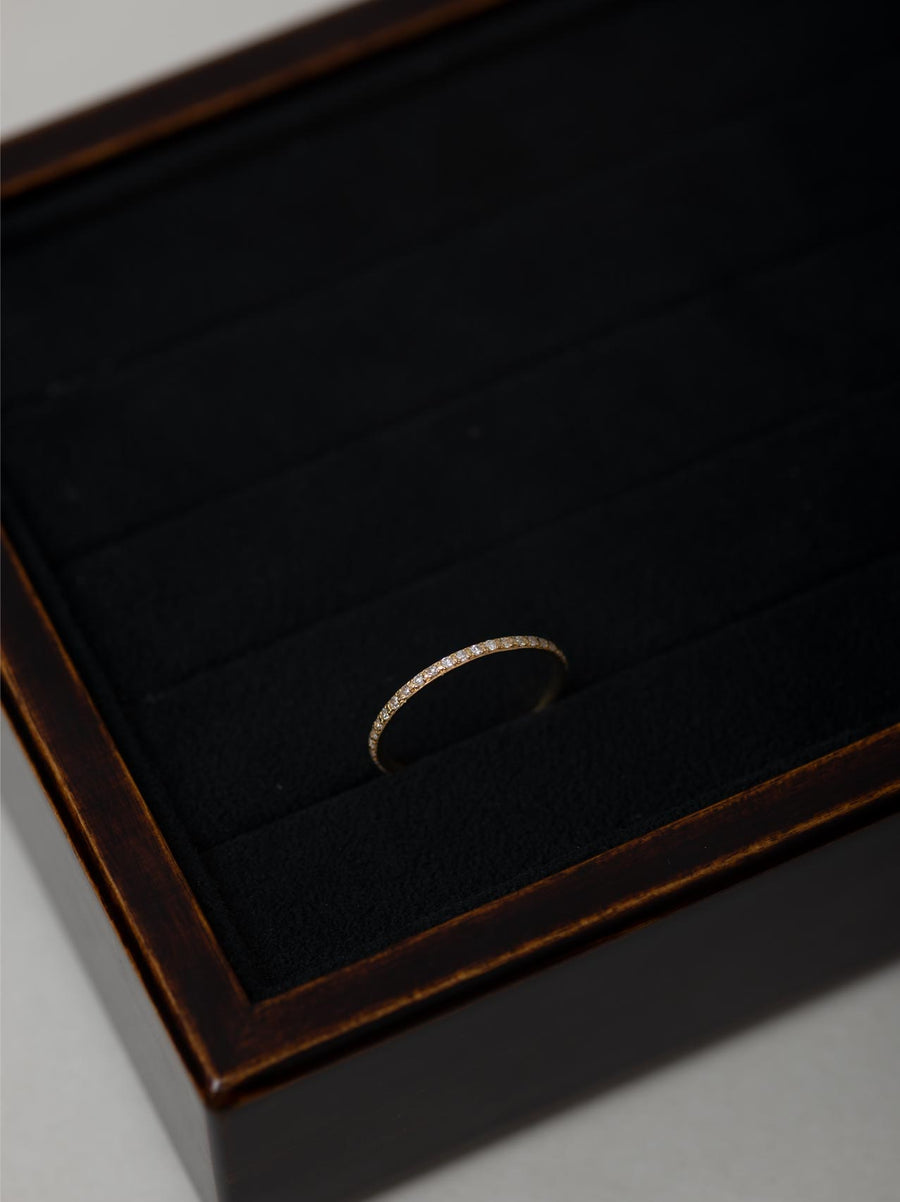 Plain diamond line ring S