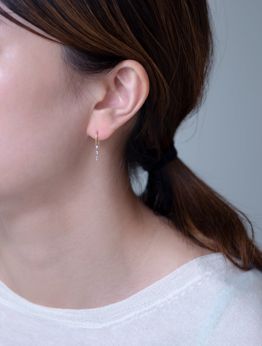 Nude diamond hook pierce -rosecut- Ⅱ