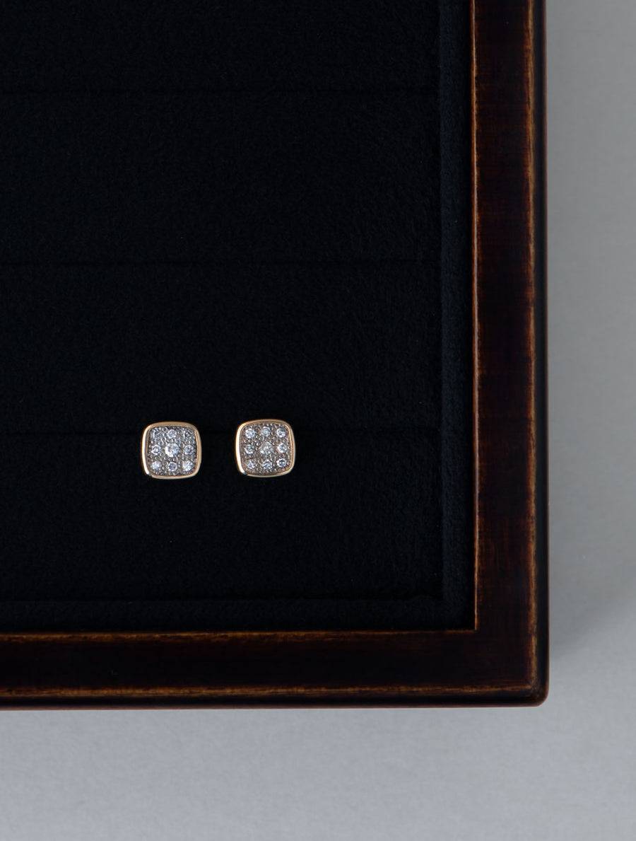Pave square pierce