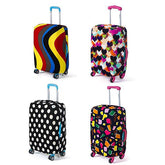 Luggage cover ( Colourful Love, Color Corrugated, Color Mactching Polygon and Black and White Dots)
