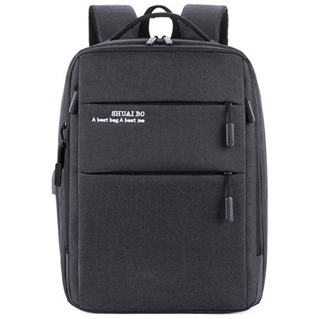 Business men's USB charging backpack