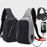 Smart Crossbody Bag with USB Charging Port