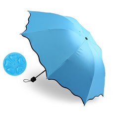 Folding tri-fold sunshade umbrella