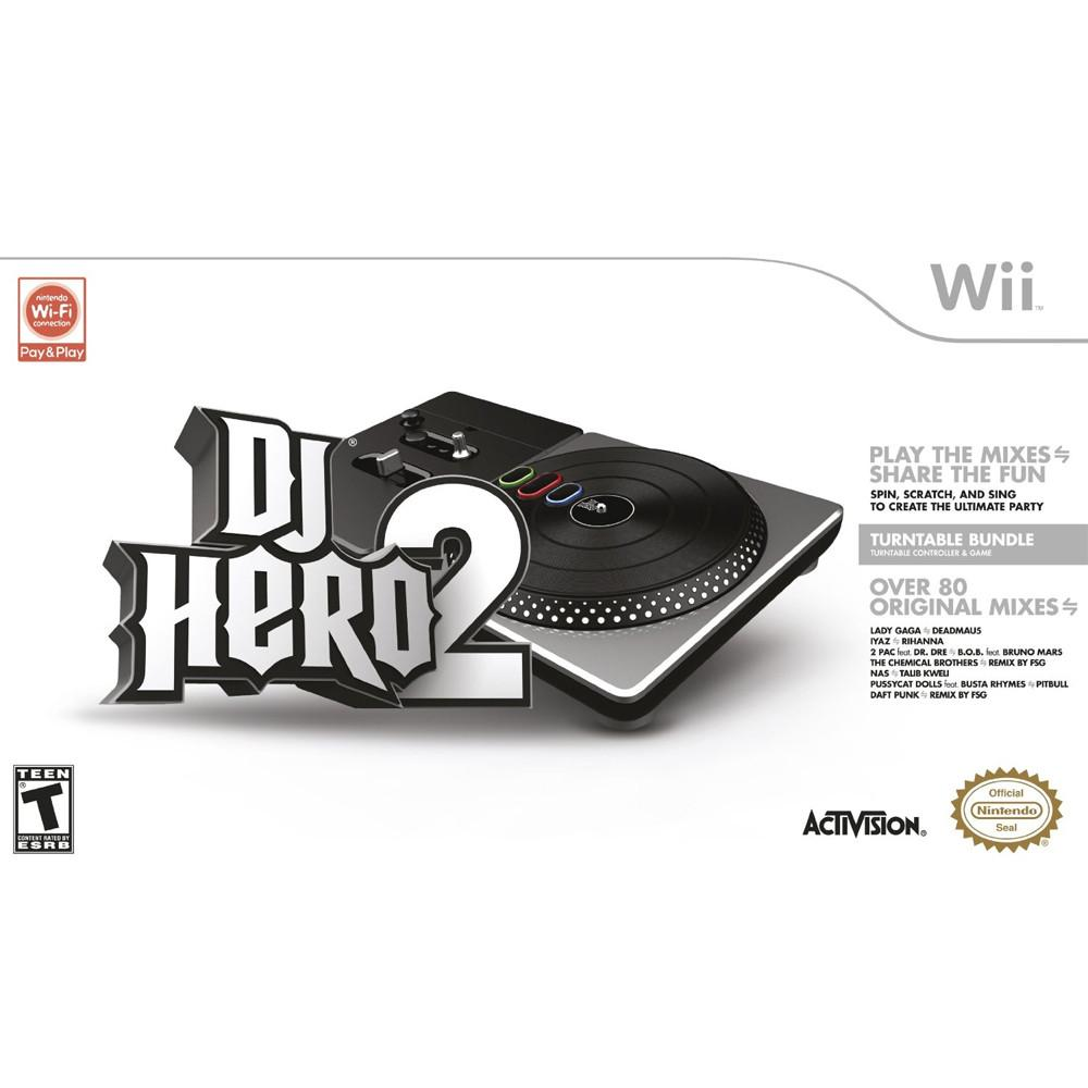 Nintendo Wii Dj Hero 2 Turntable Bundle - Turntable Controller and Game