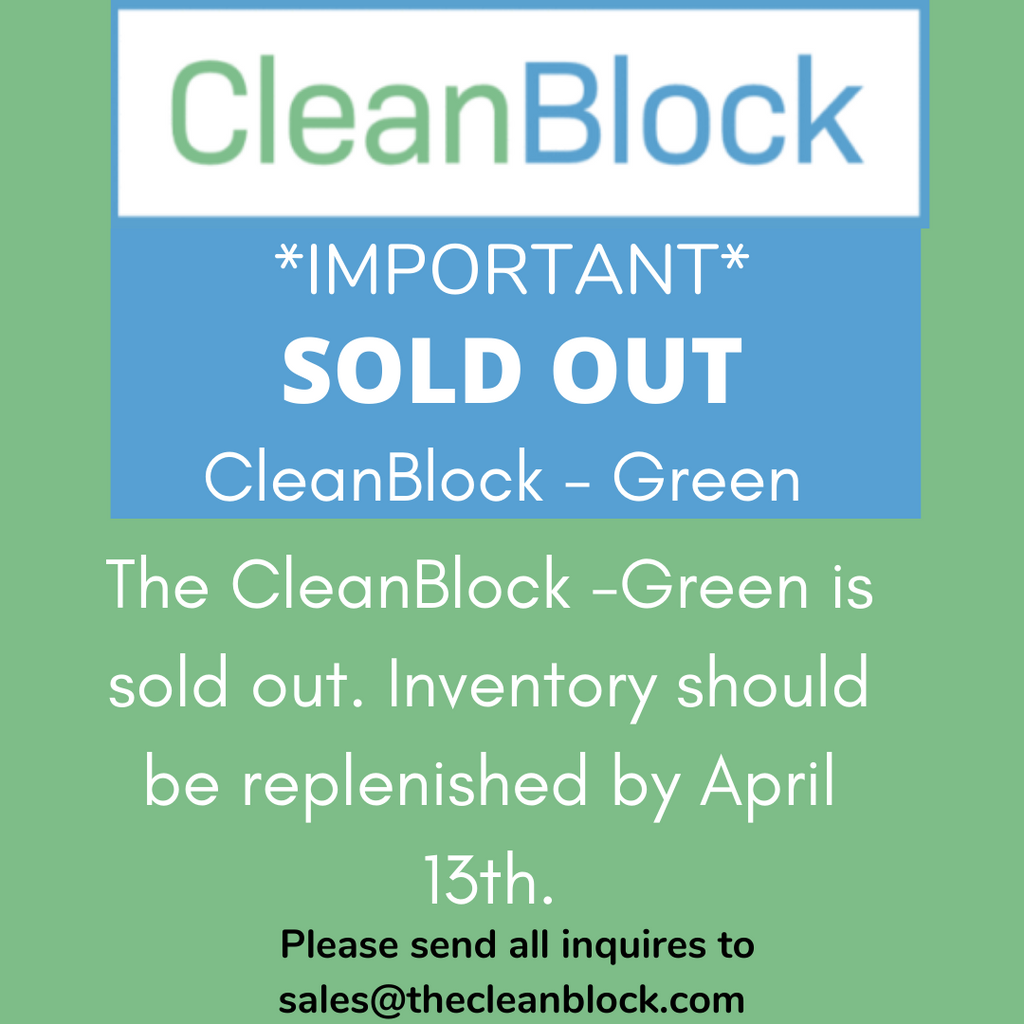 4/4/2020: SOLD OUT: GREEN CLEANBLOCKS