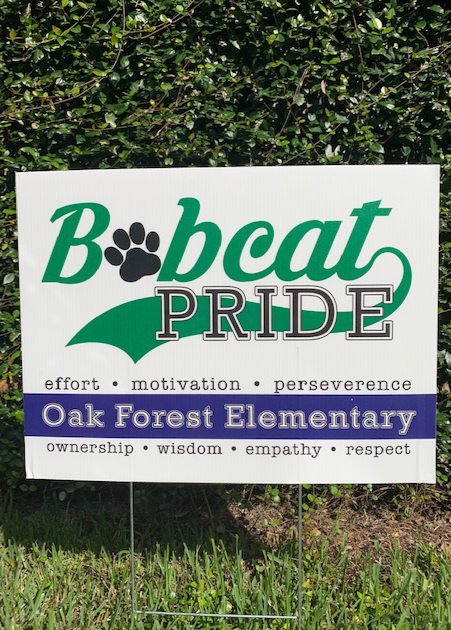 Bobcat Pride Yard Sign - *NEW ITEM*