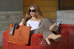 """Canela"" Tote Leather Bag"