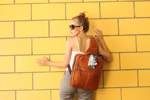 """Cocoa"" Leather Backpack"
