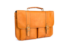 """Cafe"" Leather Briefcase"