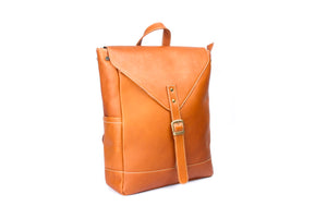 """Mocha"" Leather Backpack"