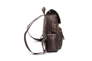 """Chocolate"" Leather Backpack"
