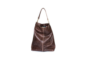 handmade leather hobo bag