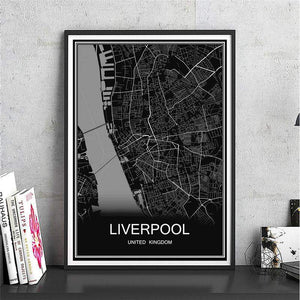 Map of Liverpool Canvas