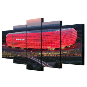 Bayern 5 Panel HD Canvas