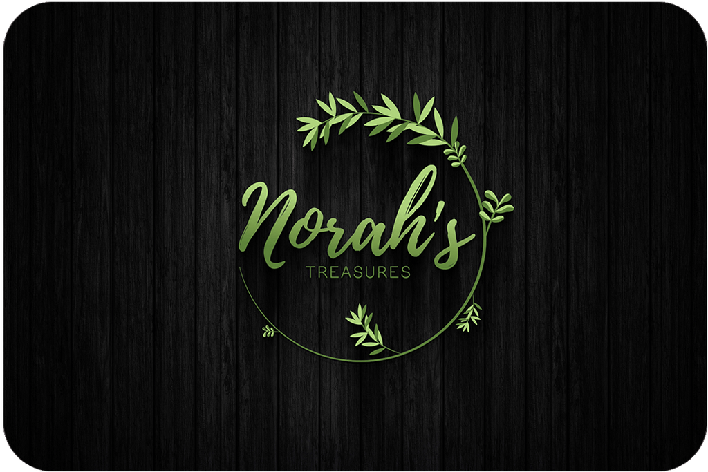 green floral logo design