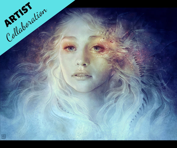 MOTHER OF DRAGONS (VERSION B) by ANNA DITTMANN Diamond Painting DIY Kit FULL DRILL