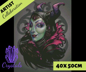 MISTRESS OF EVIL By Medusa The Dollmaker Diamond Painting DIY Kit 40 x 50 cm FULL DRILL Round Beads with CRYSTALS - DIYMoon Shop