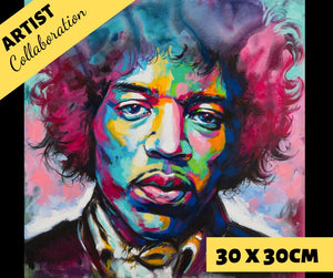 HENDRIX by Jack Magurany Diamond Painting DIY Kit 30 x 30 cm FULL DRILL - DIYMoon Shop