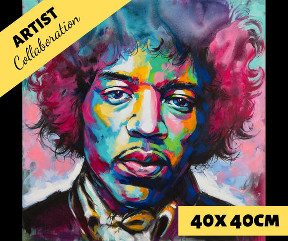 HENDRIX by Jack Magurany Diamond Painting DIY Kit 40 x 40 cm FULL DRILL - DIYMoon Shop