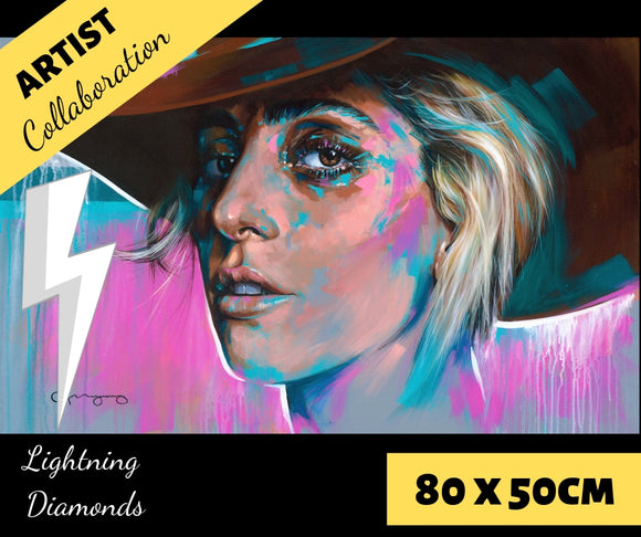 GAGA by Jack Magurany Diamond Painting DIY Kit 80 x 50 cm FULL DRILL with LIGHTNING DIAMONDS - DIYMoon Shop