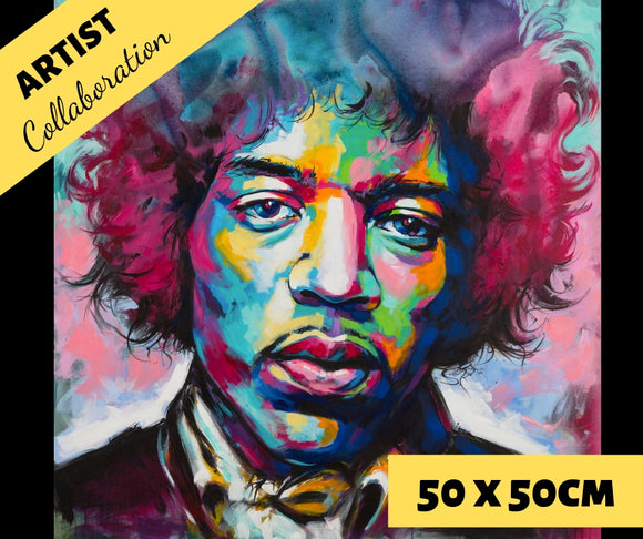 HENDRIX by Jack Magurany Diamond Painting DIY Kit 50 x 50 cm FULL DRILL - DIYMoon Shop