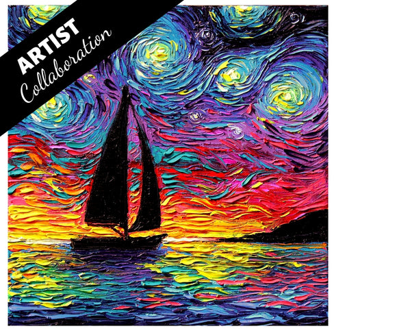COME SAIL AWAY by AJA TRIER Diamond Painting DIY Kit 40 x 40 cm FULL DRILL Round Beads - DIYMoon Shop