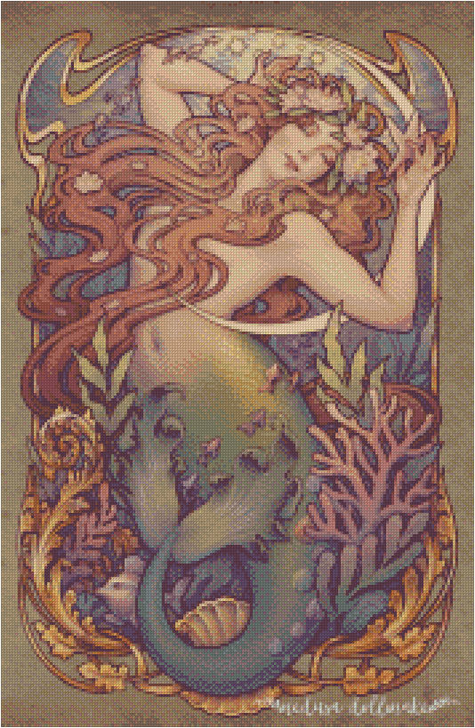 ANDERSEN'S LITTLE MERMAID By Medusa The Dollmaker Diamond Painting DIY Kit FULL DRILL - DIYMoon Shop