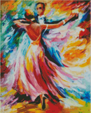 DELIGHTFUL WALTZ By Leonid Afremov Diamond Painting DIY Kit FULL DRILL - DIYMoon Shop