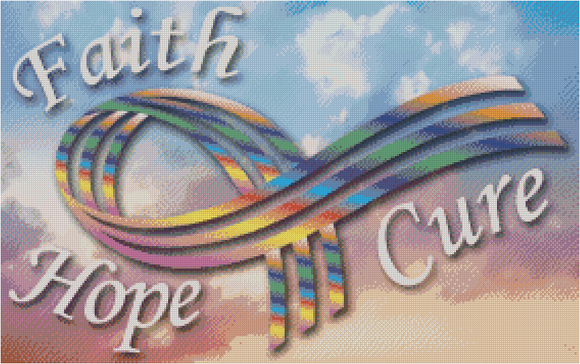 Customer Design - Faith Hope Cure Ribbon C - DIYMoon Shop