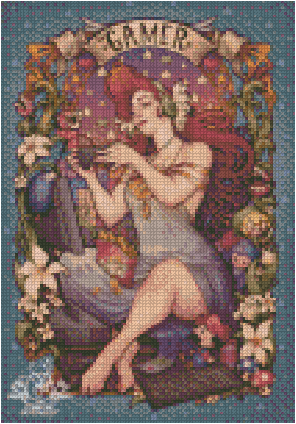 GAMER GIRL By Medusa The Dollmaker Diamond Painting DIY Kit FULL DRILL - DIYMoon Shop