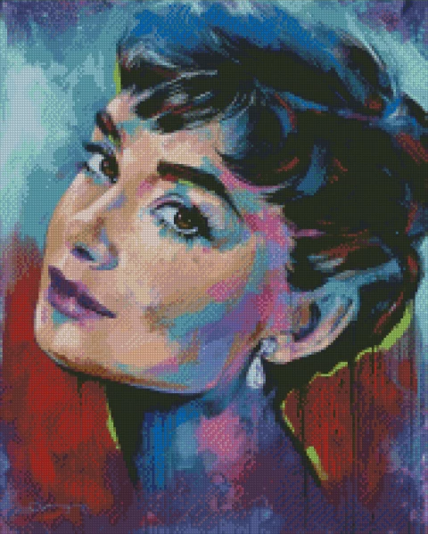 HEPBURN by Jack Magurany Diamond Painting DIY Kit FULL DRILL with LIGHTNING DIAMONDS - DIYMoon Shop
