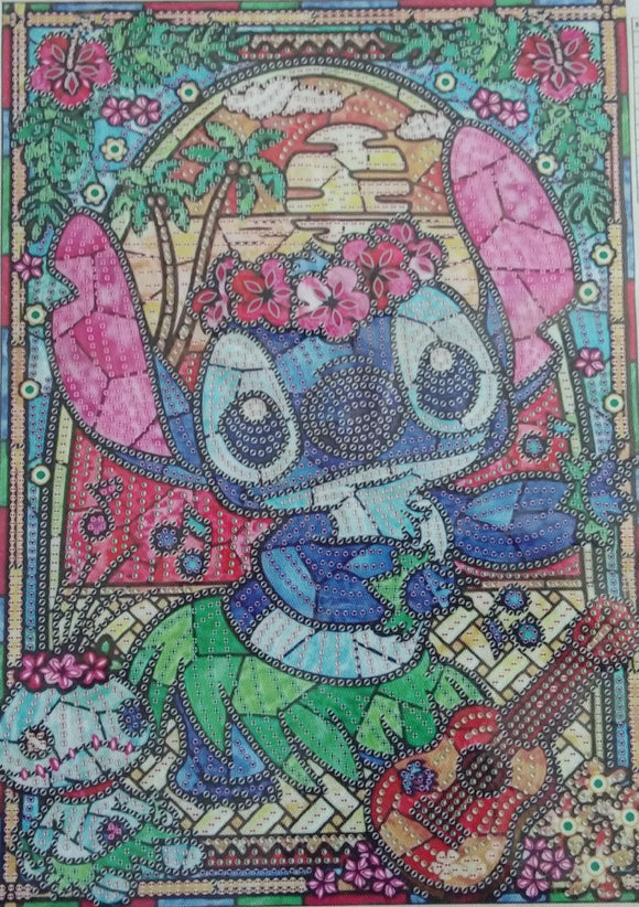 GLORIOUS CUTE ALIEN Diamond Painting DIY Kit 30 x 40 CM PARTIAL DRILL Rounds, Crystals, Gems and Electric Diamonds