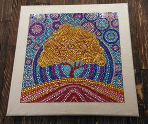 TREE OF LIFE Diamond Painting DIY Kit  25 x 25 cm Multi-Sized Crystals and Electric Diamonds